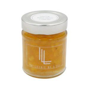 pot de confiture ananas, vanille citron vert confiture artisanale Alsace