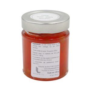 pot de confiture pomme, coing orange confiture artisanale Alsace